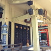 瀬戸物で造られた燈籠がある火防陶器神社こと『坐摩(いかすり)神社』を参拝!茶色い狛犬もいたぞ!【大阪市中央区久太郎町】