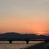 夕暮れの竹島海岸 2017 8月