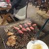 【食事】 ドキドキファームで常陸牛のバーベキュー