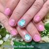 サムシングブルーで幸せに♡リボンが可愛いティファニーブルー&ピンクのブライダルネイル☆
