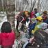 森のお遊び会 4月 樹液採り 麦の種蒔き カプラブロック遊び