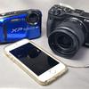 山歩きの記録写真、防水コンデジ vs ミラーレス vs スマホ / XP90 vs EOS M3 vs iPhone5S
