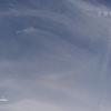 2018/5/15 牡牛座の新月。そして、空に架かる虹と飛行機雲。