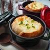 【レシピ】スープの素で簡単♬オニオングラタンスープ♬