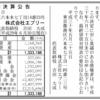 DELISH KITCHENの株式会社エブリー 第2期決算公告 / 減資公告