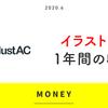イラストAC 1年間の収益。