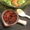 どんこ椎茸と蒟蒻とロースト胡桃のバルサミコ酢風味