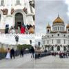 救世主ハリストス大聖堂・モスクワの道路は水浸し〜モスクワ旅行2日目その4