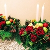 #29  山の花材でクリスマスアレンジメント  ろうそくのアレンジ