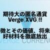 【XVG】Verge(バージ)の価値/将来性/特徴|取扱の取引所