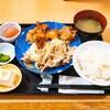 福徳食堂@原木中山 豚生姜焼き定食(+鶏の唐揚げ250g)