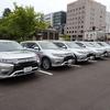 青森県庁にてPHEV納車式