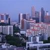 シンガポール街歩き#288(夕暮れのマリーナ・ベイ方面)