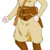 イラスト練習記録_中世ファンタジー軽装冒険者