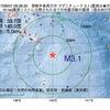 2017年08月07日 08時28分 房総半島南方沖でM3.1の地震