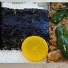 【昭和風の弁当】肉たっぷり!! 豚肉とピーマンの炒め物と味付け海苔の弁当