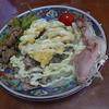 幸運な病のレシピ( 539 )昼:サバ水煮、チーズオムレツ、朝の残り