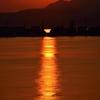秋分の夕日…