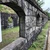 旧高烏砲台兵舎跡、高烏公園に残っています。