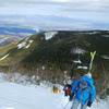 蓼科山 山スキー(積雪不足により藪スキー)