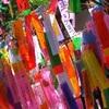 北野七夕祭2017、北野紙屋川会場の催し。ライトアップあり。