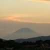 夕暮れ景色~その110①『燃える夕陽と富士山』