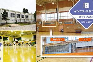 「エアコン」×「輻射パネル」で、学校体育館は効率よく冷やせる