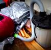 木工自動カンナ用集塵機の自作|安価なダストセパレーターと集じん袋で手っ取り早く作ってみる