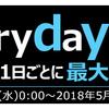Every day Edyキャンペーンが始まりました。2018年5月版