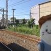 小田栄を通り過ぎていく電気機関車