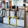 無印のスタッキングシェルフに4つピッタリフィットするファイルスタンドは、ニトリでした。