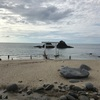 福岡に来ました。糸島の二見ヶ浦の夫婦岩
