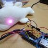 Aruino Ethernet でテクノ手芸。白イルカにネットワーク監視をさせる。