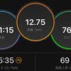 ジョギング12.75km・久しぶりの夜ランはガチユル走