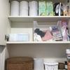 トイレ掃除のウエスを撤去して、掃除道具を使いやすく配置換え。