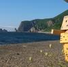 神恵内村 日本海に浮かぶ巨大な窓岩