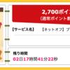【ハピタス】ネットオフ ブランド&総合買取で2,700ポイント(2,700円)! 期間限定!