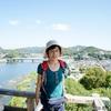 背景は犬山城からの眺め