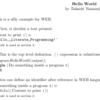 Linux で文芸プログラミング