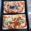 初!ラクッキングリル^^②コンビニの冷凍ピザを焼いてみた。