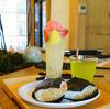 犬山城下町の森カフェでフルーツ氷