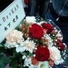祭りに届いた花。