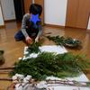 クリスマスリース、今年も作りました。