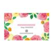 バラの花 水彩イラストのショップカードデザイン