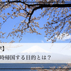 【海外留学】日本に一時帰国する目的とは?