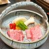 別邸 山の季 の米沢牛ステーキの夕食と朝食。