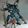 暗源 GOW 86ストライク中型メカ エメラルドブルー レビュー 大陸産ロボット×フィギュアその2