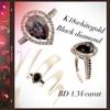 ブラックダイヤモンドリングのご紹介❗️