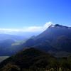 大分県の風景 鶴見岳と由布岳