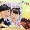 似顔絵ご注文作品(33)/結婚式ウェルカムボード、卒寿祝い、米寿祝い